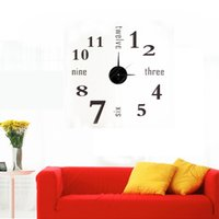 Wholesale Best Promotion D DIY Modern EVA Numbers English Alphabets Clock Wall Stickers Home Decor Decal