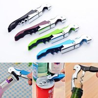 Wholesale Multi function Wine Corkscrew Stainless Steel Bottle Opener Knife Pull Tap Double Hinged Corkscrew Creative Promotional Gifts kitchen tools
