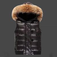 Wholesale M171 Luxury Brand women winter vest UK popular Women Winter Jacket Warm Down anorak women vest parka women jacket Real Raccoon Fur Collar