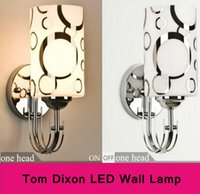 Wholesale Wall lamp Tom Dixon newly one two head glass hill light cm fashion hall light bedside lamp E27 bathroom lighting DHL