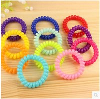 Wholesale Hot fashion Candy color hair accessories Headwear telephone rope hair ring Tousheng Hair Accessories