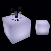 Wholesale led illuminated furniture waterproof CM led cube with remote control LED light up stool chair luminous led cube outdoor