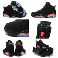 Wholesale Retro VI Black Infrared Womens Mens Sports Basketball Shoes Size