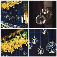 Wholesale Hanging Glass Ball Candle Holder For Wedding Decor Glass Ball Candle Holder Flat Bottom Hanging Glass Terrarium Candle Holders