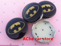 batman auto accessories - 56mm Mazda M3 M6 Batman Badge car Wheel Center Hub Cap Wheel Dust proof emblem covers Auto accessories