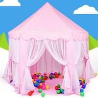 Classic baby play house indoor - Portable Kids Play Tents Ultralarge Fencing for Children Baby Fence Girls Princess Castle Indoor Outdoor Toys House Playpens VE0071