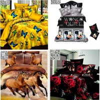 bedding roses - Free Cheap D Bedding Sets Charming red Roses Pattern Design Printed Comforter Sets Queen Size Duvet Cover Bed Sheet