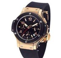 Wholesale 2016 New Luxury Men Watches Golden Case Royaloak Offshore Quartz Stopwatch Chronograph Men s Watch Original Clasp Wristwatch AAA Quality
