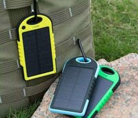 Wholesale 2016 Dual USB Drop Resistance Portable Charger Waterproof Solar Charger mah Ravel External Battery For Smartphone