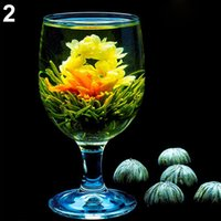 Wholesale NEW4 Balls Different Blooming Flowers Healthy Green Tea Wedding Gift