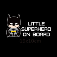 baby board - Little Superheroes Baby On Board Car Styling Reflective Car Stickers Decals for chevrolet cruze ford focus vw hyundai honda kia