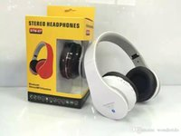 Wholesale Bluetooth Headsets STN Stereo headphones Support TF card FM Radio Headsets for Iphone Mobile Music Player Sport earphone