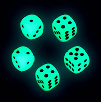 Wholesale 14mm Luminous Dice D6 Glowing Dice Glow Dark Bosons Drinking Games Funny Pub Bar Game Toys Good Price High Quality S1