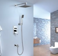 best hand mixers - Best sanitary ware rain shower faucet bath shower faucets Concealed Wall Mount Bath Rain Shower mixer faucet with shower hand chrome tap