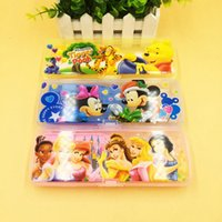 Wholesale Multifunctional Frozen Elsa Anna Pencil Box Pen Cases School Supplier Student Gifts Plastic Stationery Holder For Children Boys Girls