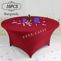 banquet tables sale - 10PC Banquet Table Cover Spandex Fabric Cloth Wedding Table Covers Table Cover linen White Coverr Snoopy Table Covers Black Sale