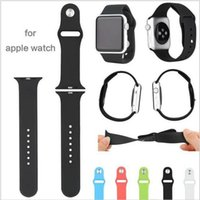 Wholesale Silicone Watch Band With Connector Adapter for mm iWatch Sports Buckle Bracelet Series Series