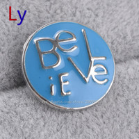 american free press - BE LOVE iE enamel rhodium plated DIY press noosa chunks button leather snap bracelet metal chunks for Noosa bracelet YD0199