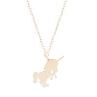 Wholesale 10pcs New Style Cool Unicorn Animal Necklace Pendant Male Animal Monster Collares Necklaces for Women and Girls