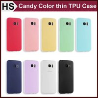 apple ice cream - Ultra Thin Frosted TPU Case For iPhone S S Plus Samsung S6 S7 Edge NOTE A3 A5 A7 Soft Gel Ice Cream Candy Color Cover DHL
