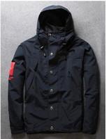 Cheap New Fall Winter Rare Hip Hop Designer Hooded Men Windbreaker Jacket Coat Brand Tag Outerwear Sportswear