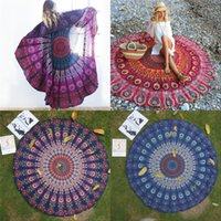 beach wall covering - Round Flowers Yoga Blankets Chiffon Multi Function Also Used as Wall Hanging Tablecloth Couch Cover Leisure Retro Beach Towel