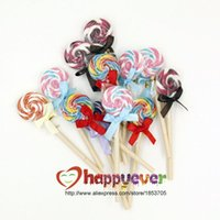 baby shower stationery - 6PCS Flat Shape Lollipop Ballpoint Pen Novelty Cute School Stationery Random Color Birthday Party Favor Kids Baby Shower