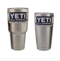 Wholesale 304 Stainless Steel oz Yeti Cups Cooler YETI Rambler Tumbler Cup Vehicle Beer Mug Double Wall Bilayer Vacuum Insulated ml by DHL