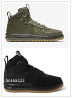 air force canvas - Lunar Air Force LF1 Duckboot Medium Olive Gum Black Wheat Duck Boot Army Green Sneaker Duckboot High Walking Outdoor Sports Men Shoes