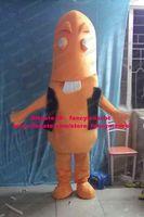big front teeth - Yummy Orange Sausage Wurst Ham Banger Gammon Mascot Costume Cartoon Character Mascotte Big Front Teeth Thin Arms ZZ1119 Free Sh