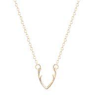 al por mayor las mujeres za-Joyería minimalista del collar de la cuchara del collar del cuerno 10pcs / lot para el collar Collar 2016 del cc ZA del collar del cuerno de las mujeres