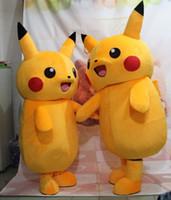 2016 Costume du personnage de haute qualité Pikachu Mascot Costume populaire Kumamon Cartoon Pour Costume Adulte Fancy Party Dress