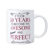 awesome coffee mugs - 50th Birthday Gifts For All Took Years Awesome Funny Party Gift Coffee Mug Tea oz Cup White