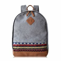 backpack light weight - Fashion Korean style women s men s casual woolen canvas light weight Two way zip travel sport college backpack rucksack daypack book bags
