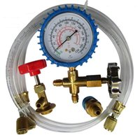 ac manifold gauges - R134A Car AC Manifold Gauge Clear Hose Kit A C Refrigeration Coupler Set
