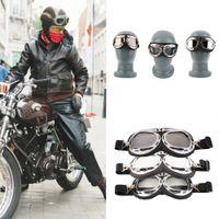 Wholesale Anti UV Vintage Motorcycle Goggles Pilot Biker Helmet Sunglasses Scooter Cruiser ATV Glasses Off Road Motocross Racing Eyewear