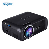 Wholesale Original Everycom X7 Mini TV Projector Hdmi Home Theater Beamer Multimedia Proyector Full Hd p Video Short throw Projector