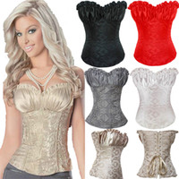 Wholesale Sexy Shapers Corsets Bustiers Waist Training Corset Renaissance Lingerie Lacing Corset Tops For Wedding Dress Plus Size