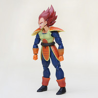 Wholesale Anime Dragon Ball z Figures Orange Hair Scouter Vegeta PVC SHF Action Figure Toy Vegeta Collectible Model Toy cm