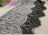 Wholesale 30 Yard cm Wide Black Eyelash Lace Trim DIY Sewing Applique