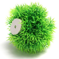 Wholesale Lowest Price Beautiful Aquarium Plastic Green Seaweed Moss Ball Decoration For Fish Tank