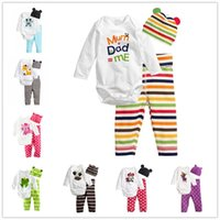 baby boy coverall - 2016 New Kids Animal Outfits Coverall Baby Boy Owl Striped Clothing Set Autumn Infant Girls Cotton Rompers Pants Fall Sleepsuits Hat