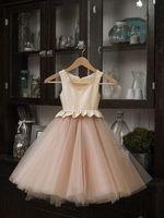 Wholesale 2016 New Beige Color Beautiful Chiffon A line White Flower Girl Dresses