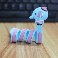 band organizer - New Long Strip Cable Winder Cartoon Animal Design Earphone Wire Organizer Data USB Cable Storage Housing Band