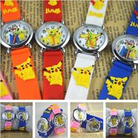 anime watch - poke go pikachu watches watch D Cartoon Anime Kids children student Wristwatches Silicone Quartz Wrist Watch christmas Gifts Supplies
