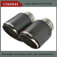 akrapovic exhausts - One High Quality Inlet mm Outlet mm Akrapovic Carbon Exhaust End Tips Stainless Steel Exhaust pipe