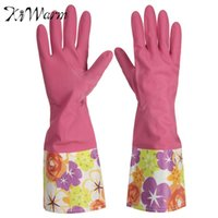 Wholesale High Quality A Pair Of Rubber Latex Cleaning Gloves Kitchen Housework Hand Cuff Washing Tools Housekeeping H055