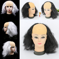 bald wigs - Halloween Adult Costumes Cosplay Dress Synthetic Hair False Hair Women Men Party Ball Bald Wig Fancy Dress Cosplay Make up Wig