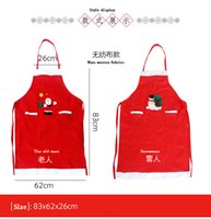 Wholesale Christmas Decorations Adult General Red Non Woven Apron Bartender Costumes Festive Dress Up for household use