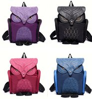 acrylic purse handles - Women Girls Cute Lovely Owl Backpack Casual Everyday Bag Carry All Bags Handbag Purse Fashion Top handle Bag Travel Satchel